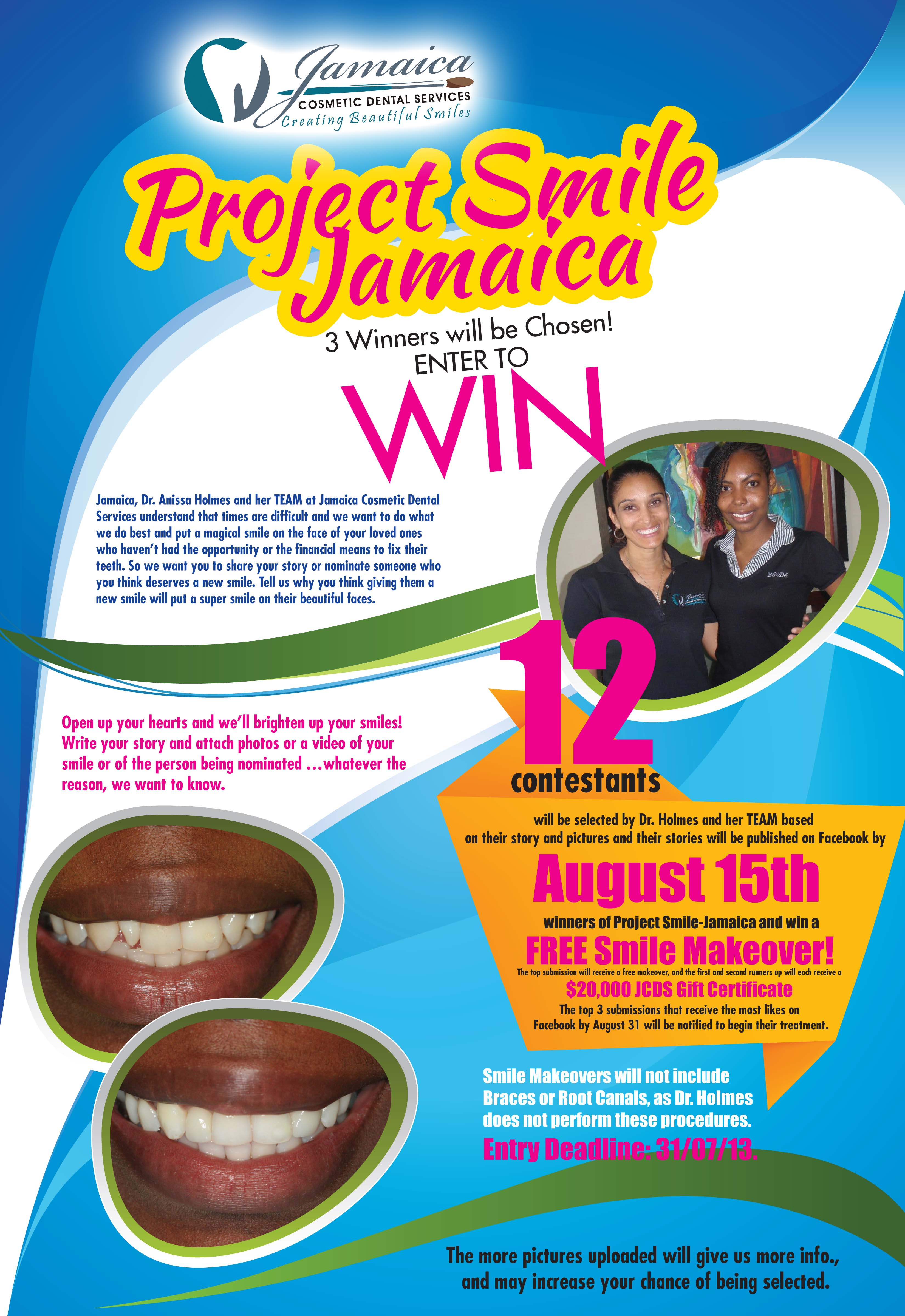 Enter to WIN a Free Smile Makeover! | Jamaica Cosmetic Dental Services